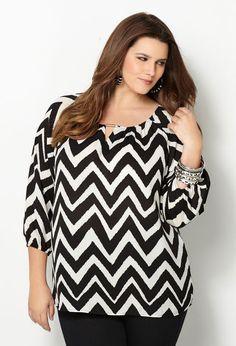 Belated Fat Tuesday Fashion Pick: Chevron Print Blouse