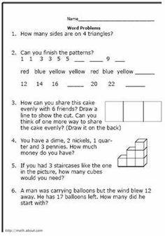 Free Printable Worksheets For Secondgrade Math Word Problems  Free Printable Worksheets For Secondgrade Math Word Problems
