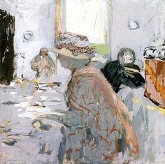 Madame Hessel, or A Lady in a Hat with a Ribbon - Edouard Vuillard 1900