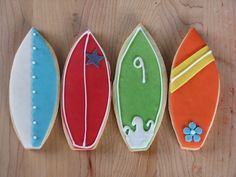 surf cookies for his future parties!