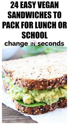 24 Easy Vegan Sandwiches To Pack For Lunch Or School! Easy to prepare that are v… 24 Easy Vegan Sandwiches To Pack For Lunch Or School! Easy to prepare that are very healthy! Lowest Carb Bread Recipe, Low Carb Bread, Vegetarian Recipes, Healthy Recipes, Vegetarian Grilling, Healthy Grilling, Healthy Sandwiches, Sandwich Recipes, Appetizer Recipes