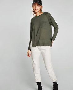 ZARA的图片 2 名称絨布 T 恤