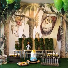 Where the Wild Things Are Boys First Birthday Party Ideas, First Birthday Party Decorations, 1st Birthday Themes, One Year Birthday, Wild One Birthday Party, Baby Boy First Birthday, Boy Birthday Parties, Wild Ones, Wild Things