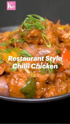 Puri Recipes, Veg Recipes, Indian Food Recipes, Spicy Chicken Recipes, Indian Chicken Recipes, Dinner Recipes, Cooking Recipes, Tastemade Recipes, Chaat Recipe