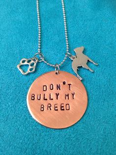 Don't Bully My Breed by JEMJewelryDesign on Etsy