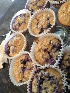 Blueberry Vanilla Protein Muffins - Healthy snack!