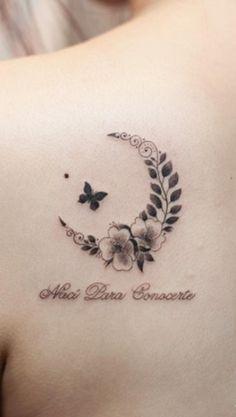 Naturalistic crescent moon tattoo by Tattooist River
