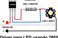 An LED should NEVER be directly connected to a voltage without a surge arrester. - News Technology Electronic Circuit Projects, Electronic Parts, Electronic Engineering, Electrical Engineering, Led Projects, Arduino Projects, Electronics Components, Electronics Projects, 1w Led