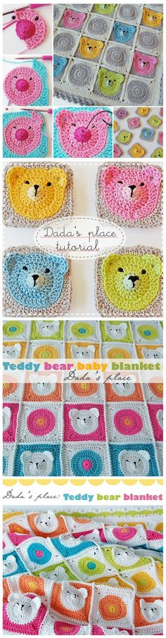 DIY Teddy Bear Granny Square