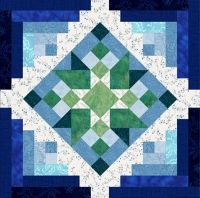 Book 2. My Blue Heaven King Quilt Complete Set