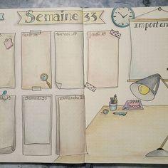 Semaine 33 dans mon #bujo ... #bulletaddict #bulletjournallove #polychromos #dessin #intemporellecreation #unipin #organisation #semaine #août #bujofr #bulletjournal #illustration #leuchtturm1917