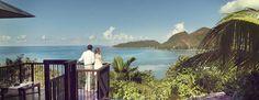 Hôtel Raffles (Praslin - Seychelles) - 26 villas vue panoramique avec piscine, situées sur le point culminant de l'hôtel pour bénéficier du plus beau point de vue sur les îles extérieures et l'horizon de la mer…