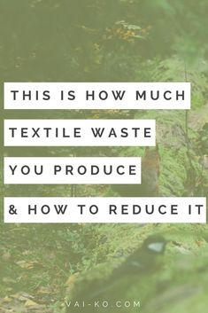This is how much textile waste you produce and how to reduce it. Tips on sustainable eco-friendly living. Ecological and ethical clothing ideas. Sustainable Clothing, Sustainable Living, Love The Earth, Ethical Clothing, Green Life, Simple Living, Ecology, Slogan, Sustainability