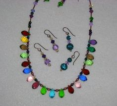 DISCOUNT Christmas Lights Necklace Glass and by MyGrandmasHome