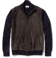 BrioniSuede-Front Cashmere Bomber Jacket|MR PORTER