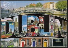 Dublin City, colourful, vibrant, exciting. The living capital city of Ireland.