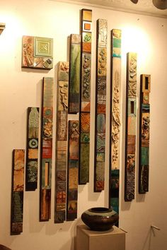 SOLD Cindy Layaway Return to the Sea Totems Collages Large