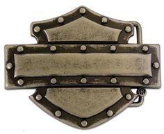 Harley-Davidson® Mens Collector Industrial Belt Buckle. M10078