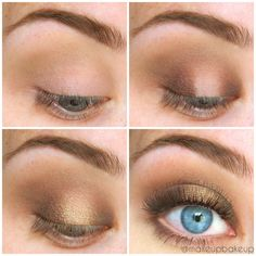Dug out an old favorite of mine for today's Look. A Golden Smokey eye feat. Too Faced's Natural Eye Palette.  Makeup, neutral makeup, natural makeup, gold shadow, gold makeup look, makeup tutorial, bblogger, motd