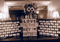 """Love is the key to happiness""...we love the key theme from Jennifer's wedding! 
