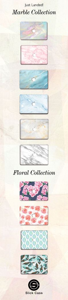New Floral & Marble  MacBook Case Cases! Click on the link here to check all these Marble & Floral designs out: https://shop.slickcaseofficial.com/collections/new-arrivals-macbook-cases