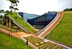 A Swirling Green Roof Tops Gorgeous Nanyang Technical University in Singapore