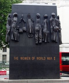 "The Women of World War II memorial.  Article: Britain's Forgotten Servicewomen of WW1 and WW2 ~ ""...criticism of the design and creation of this Memorial is in no way directed at the spirit of the sculpture.""  But ""In other words, in this 'all-inclusive' Memorial, 640,000 British WW2 servicewomen have disappeared without trace."""