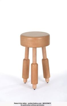 Stool, cork and beechwood - The Milk Stool - Wiid Design