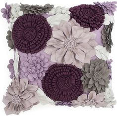 pretty, pretty purple pillow... love all the shades and textures of flowers!