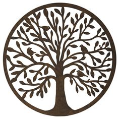 Träd siluett Livets Träd Väggdekoration Arts And Crafts, Trees, Flowers, Cast Iron, Art And Craft, Wood, Flower, Craft, Blossoms