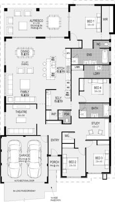 The southport floorplan house plans одноэтажный дом, дом a план. New House Plans, Dream House Plans, House Floor Plans, The Plan, How To Plan, Home Design Floor Plans, Plan Design, Building A New Home, Building Plans