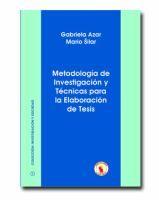 Metodología de investigación y técnicas para la elaboración de tesis. 2006. Sign.: T 001.8 AZA. +info: http://encore.fama.us.es/iii/encore/record/C__Rb1734937
