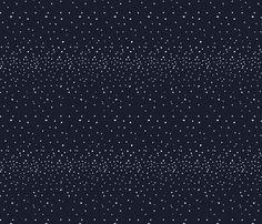Midnight Snowfall fabric by bear_bell on Spoonflower - custom fabric