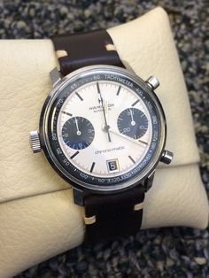 Vintage Hamilton Chronomatic Chronograph Watch Panda Dial No Reserve!! in…