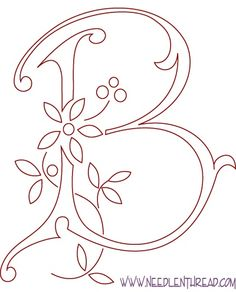 Wonderful Free Monogram for Hand Embroidery: Letter B Style whole alphabet of monograms. A-Z great for all kinds of crafts and sewing projects! Diy Projects To Try, Crafts To Do, Art Projects, Arts And Crafts, Paper Crafts, Canvas Crafts, Diy Canvas, Canvas Art, Hand Embroidery Letters