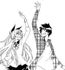 """maybe this feeling wasn't there from the start. but little by little this feeling increased.. maybe this is what love was"" -Raku #nisekoi #RakuxChitoge"