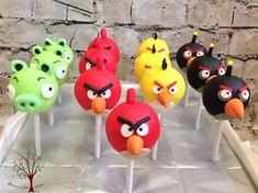 Angry Birds Cake Pops - Cake by Blossom Dream Cakes - Angela Morris Angry Birds Birthday Cake, Angry Birds Cupcakes, Bird Birthday Parties, 2nd Birthday, Birthday Ideas, Harry Birthday, Cumpleaños Angry Birds, Festa Angry Birds, Cake Pops