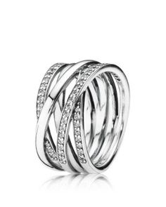 PANDORA Ring - Sterling Silver & Cubic Zirconia Twist of Fate | Bloomingdales's