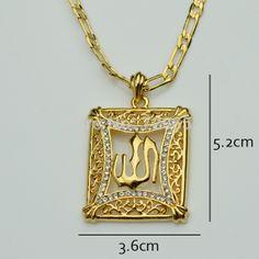 163 best muslim islam allah jewelry images on pinterest arabic islam allah pendants necklaces men18k gold plated arab muslim islamic pendant womeneid aloadofball Images