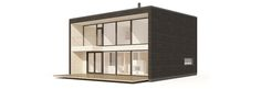 Looking for a log home with modern design? Have a go at our brand new Plushirsi collection designed for urban settings! Urban Setting, Log Homes, Shelves, Mirror, Architecture, House, Furniture, Home Decor, Interiors