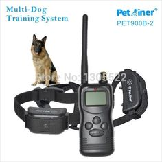 New Rechargeable waterproof 2 Dog Training shock Collar for dog