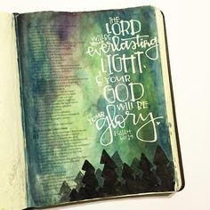 Bible Journaling the night sky with a gel pen! Love it!