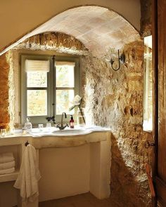 stone nook images | stone #travertine #bathroom #nook #renovation | banyo