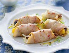 Ricette di Gustavo: Involtini di pesce spada affumicato con finocchio e olive