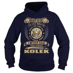 I Love KOLEK Last Name, Surname Tshirt T shirts
