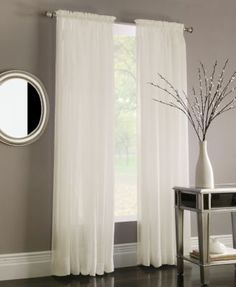 Miller Curtains Sheer Preston Window Treatment Collection | macys.com