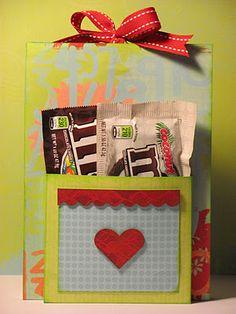 small gift holder! Good Idea for secret santa's!