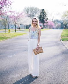 """546 Likes, 76 Comments - SEQUINS&SEAMS/ Bailey Hawkins (@sequinsandseams) on Instagram: """"A white wide leg trouser is a timeless Spring and Summer staple in my book! Classy, elongating,…"""""""