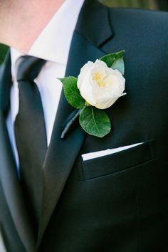 wedding boutonniere; photo: K. Thompson Photography