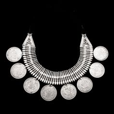 Antique Tribal And Ethnic Indian Silver Necklaces - Rabari